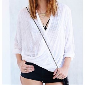 URBAN OUTFITTERS SILENCE + NOISE SURPLICE TOP